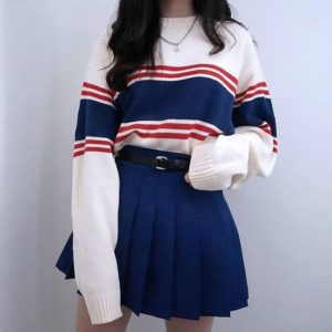 oversized shirt - nautical outfit from korea